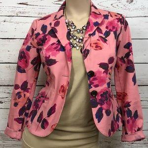 CAbi Floral Blazer | Size 2